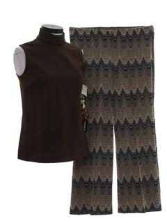 1970's Womens Mod Combo Pantsuit