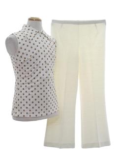 1970's Womens Mod Pantsuit