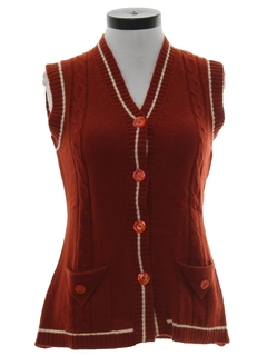 1960's Womens Mod Sweater Vest