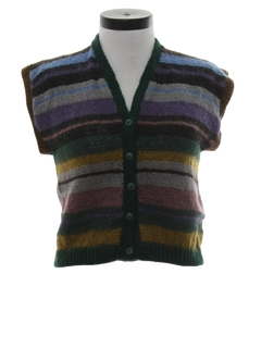1980's Womens Totally 80s Wool Sweater Vest