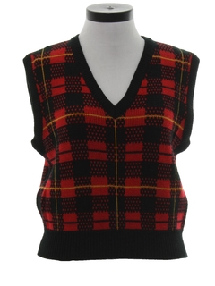 1980's Womens Totally 80s Sweater Vest