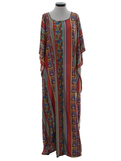 1970's Womens Hippie Muumuu Dress