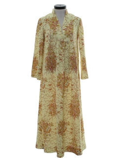 1970's Womens Knit Hippie Dress