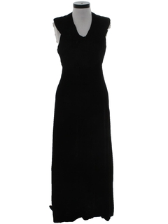 1970's Womens Velvet Cocktail Dress