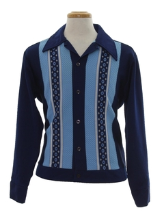 1970's Mens Knit Shirt Jac