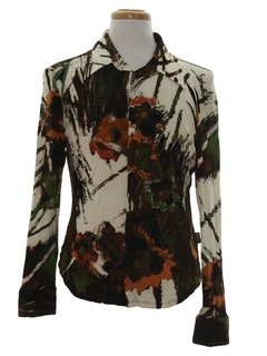 1990's Mens Print Disco Shirt