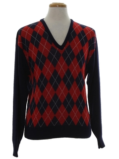 1970's Mens Argyle Golf Sweater