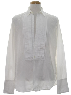 1950's Mens Tuxedo Pleated Shirt