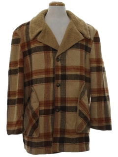 1960's Mens Car Coat Jacket