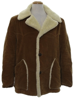 1970's Mens Western Style Corduroy Coat Jacket