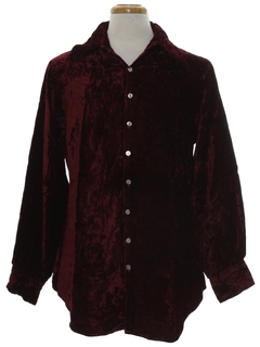 1980's Mens Velvet Hippie Shirt