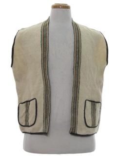 1980's Unisex Wool Hippie Vest