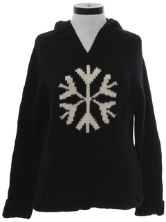 1990's Womens Wool Snowflake Ski Sweater