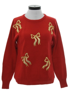 1990's Womens Minimalist Ugly Christmas Sweater