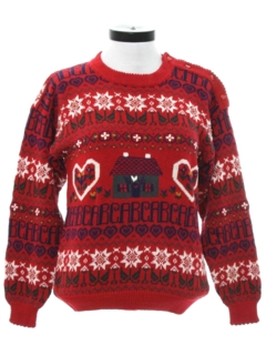 1980's Womens Totally 80s Look Ugly Christmas Sweater