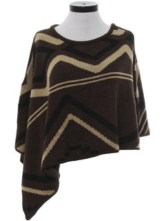 1990's Womens Totally 80s Cocktail Poncho Cut Sweater