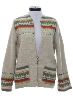 1970's Womens Wool Hippie Style Jacket