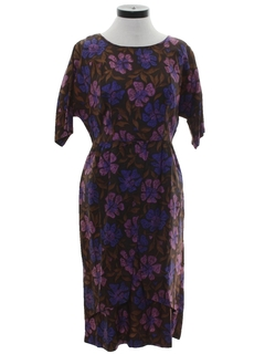 1960's Womens Print Day Dress