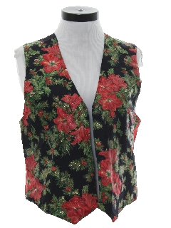 1980's Womens Ugly Christmas Non-Sweater Vest