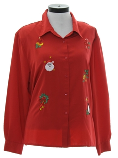 1980's Womens Shirt to Wear With Your Ugly Christmas Sweater