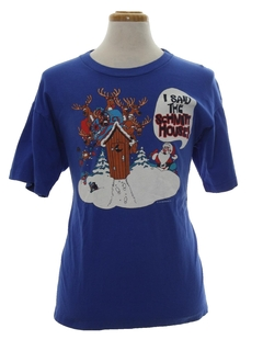 1980's Unisex Ugly Christmas T-Shirt to Wear Under Your Sweater Vest