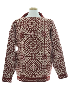 1950's Mens Snowflake Ski Sweater
