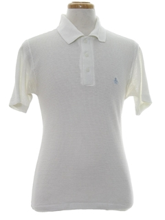 1960's Mens Mod Knit Penguin Logo Golf Polo Shirt