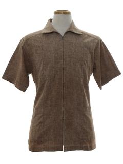 1970's Mens Mod Zip Front Shirt Jac