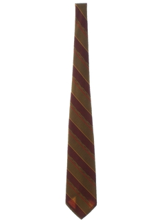 1970's Mens Wide Disco Diagonal Striped Necktie
