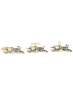 1970's Mens Accessories - Cufflinks/Tie Bar Set