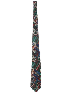 1980's Mens Accessories - Ugly Christmas Necktie to Wear With Your Sweater