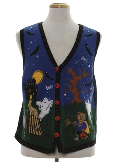 1980's Womens Ugly Halloween Sweater Vest