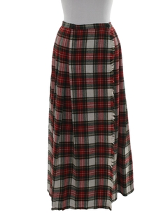 1960's Womens Plaid Skirt