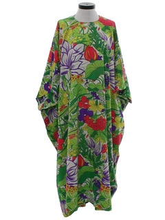 1970's Womens Hawaiian Muu-muu Dress