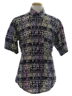 1980's Mens Totally 80s Print Shirt