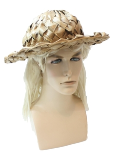 1970's Unisex Accessories - Woven Hat