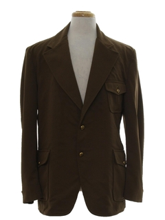 1970's Mens Leisure Style Disco Blazer Sportcoat Jacket