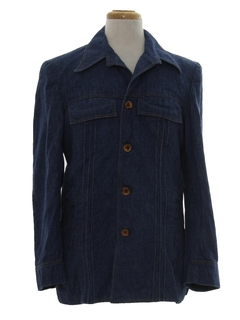 1970's Mens Mod Denim Leisure Style Shirt Jacket