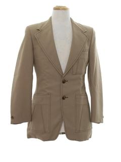 1970's Mens Mod Disco Blazer Sportcoat Jacket