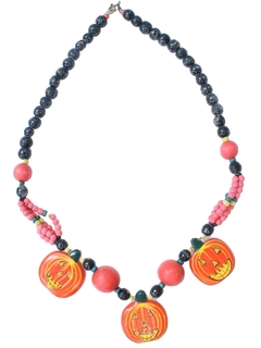 1980's Womens Accessories - Jewelry - Totally 80s Kitschy Halloween Necklace
