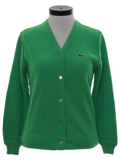 1960's Womens Mod Izod Cardigan Sweater