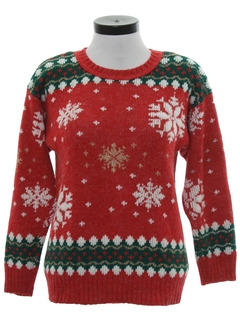 1980's Womens Snowflake Ski Sweater