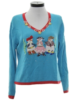 1990's Womens Western Ugly Christmas Sweater