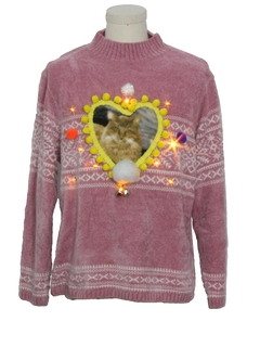 1990's Unisex Amber Lightup Catmus Ugly Christmas Sweater