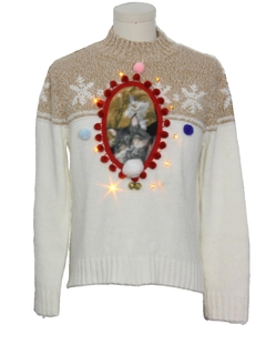 1990's Unisex Amber Lightup Ugly Christmas Catmus Sweater
