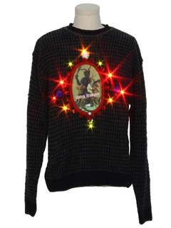 1990's Unisex Amber Lightup Krampus Ugly Christmas Sweater