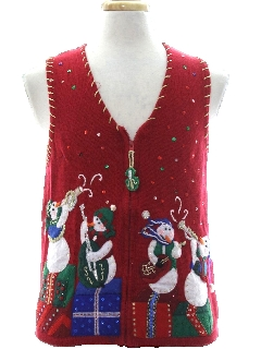 1980's Unisex Ladies or Boys Ugly Christmas Sweater Vest