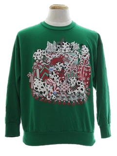 1980's Unisex Dog-gonnit Ugly Christmas Sweatshirt