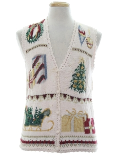 1990's Unisex Ugly Christmas Sweater Vest