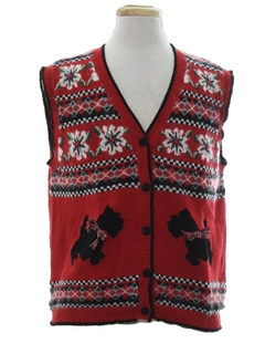 1990's Unisex Dog-gonnit Ugly Christmas Sweater Vest